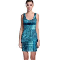 Blue Patchwork Bodycon Dresses by trendistuff