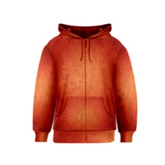 Orange Dot Art Kids Zipper Hoodies by trendistuff