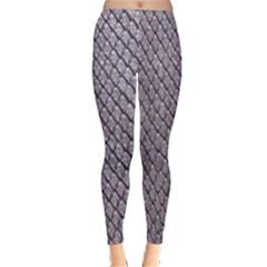 Silver Snake Skin Women s Leggings by trendistuff