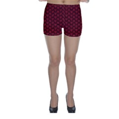 Red Reptile Skin Skinny Shorts by trendistuff