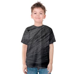 Long Haired Black Cat Fur Kid s Cotton Tee by trendistuff