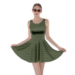 Green Reptile Skin Skater Dresses by trendistuff