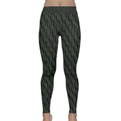 Dark Green Scales Yoga Leggings by trendistuff