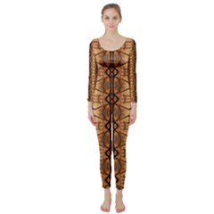 Faux Animal Print Pattern Long Sleeve Catsuit by creativemom