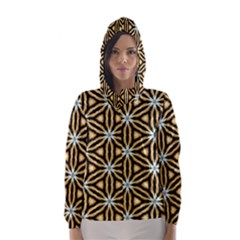 Faux Animal Print Pattern Hooded Wind Breaker (women) by creativemom