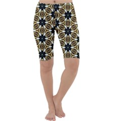 Faux Animal Print Pattern Cropped Leggings by creativemom