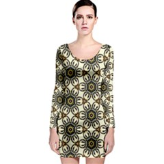 Faux Animal Print Pattern Long Sleeve Bodycon Dresses by creativemom