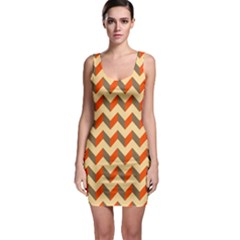 Modern Retro Chevron Patchwork Pattern  Bodycon Dresses by creativemom