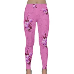 Pink Floral Pattern Yoga Leggings