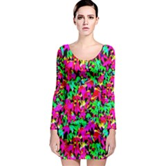 Colorful Leaves Long Sleeve Bodycon Dresses by Costasonlineshop