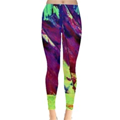 Abstract Painting Blue,yellow,red,green Women s Leggings by Costasonlineshop