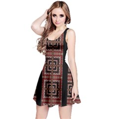 Check Ornate Pattern Reversible Sleeveless Dresses by dflcprintsclothing