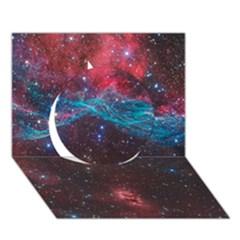 Vela Supernova Circle 3d Greeting Card (7x5)