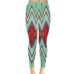 Rhombus And Chevrons Pattern Winter Leggings by LalyLauraFLM