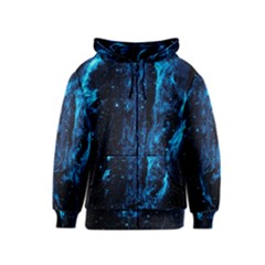 Cygnus Loop Kids Zipper Hoodies by trendistuff