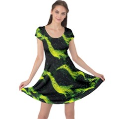 Green Northern Lights Cap Sleeve Dresses by Costasonlineshop