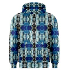 Royal Blue Abstract Pattern Men s Zipper Hoodies by Costasonlineshop