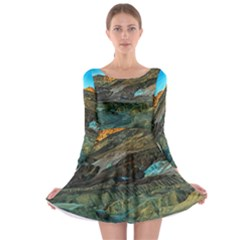 Artists Palette 1 Long Sleeve Skater Dress by trendistuff