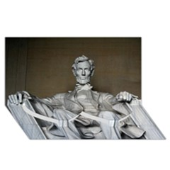 Lincoln Memorial Twin Heart Bottom 3d Greeting Card (8x4)  by trendistuff