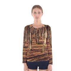 Wood Shadows Women s Long Sleeve T Shirts by trendistuff