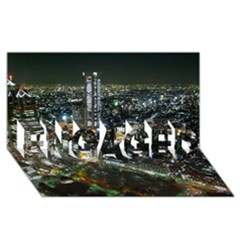Tokyo Night Engaged 3d Greeting Card (8x4)  by trendistuff