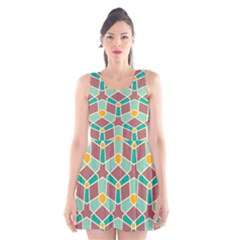 Stars And Other Shapes Pattern Scoop Neck Skater Dress by LalyLauraFLM