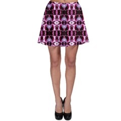 Purple White Flower Abstract Pattern Skater Skirts by Costasonlineshop