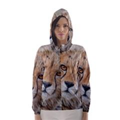 Leopard Laying Down Hooded Wind Breaker (women) by trendistuff