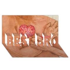 Embrace Love  Best Bro 3d Greeting Card (8x4)  by KentChua