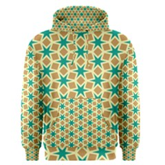Stars And Squares Pattern Men s Pullover Hoodie by LalyLauraFLM