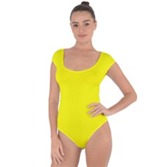 Beautiful Yellow Short Sleeve Leotard (ladies) by Costasonlineshop