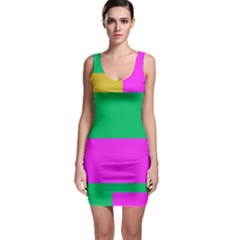 Rectangles And Other Shapes Bodycon Dress by LalyLauraFLM