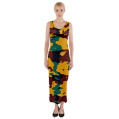 Camo Texture Fitted Maxi Dress by LalyLauraFLM
