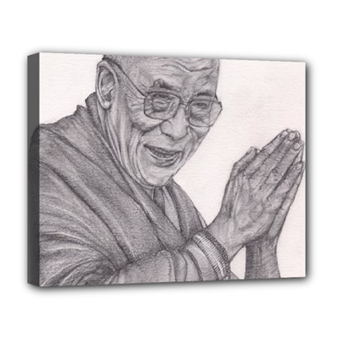 Dalai Lama Tenzin Gaytso Pencil Drawing Deluxe Canvas 20  X 16   by KentChua