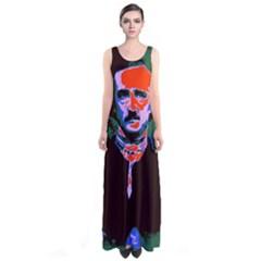 Edgar Allan Poe Pop Art  Full Print Maxi Dress by icarusismartdesigns