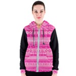 Pink African Tribal Pattern Women s Zipper Hoodie