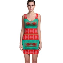 Rhombus Stripes And Other Shapes Bodycon Dress by LalyLauraFLM