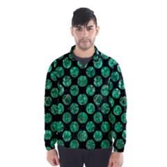 Circles2 Black Marble & Green Marble (r) Wind Breaker (men) by trendistuff