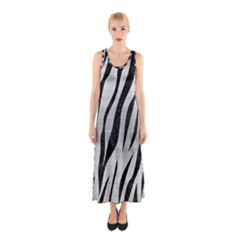 Skin3 Black Marble & Silver Brushed Metal (r) Sleeveless Maxi Dress by trendistuff