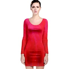 Red And Beautiful Long Sleeve Bodycon Dress by timelessartoncanvas
