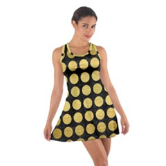 Circles1 Black Marble & Gold Brushed Metal Cotton Racerback Dress by trendistuff