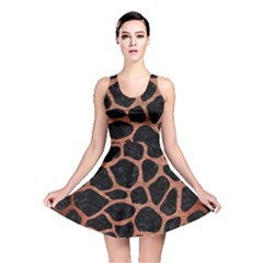 Skin1 Black Marble & Copper Brushed Metal (r) Reversible Skater Dress by trendistuff