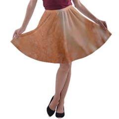 Floating Subdued Peach A Line Skater Skirt by timelessartoncanvas