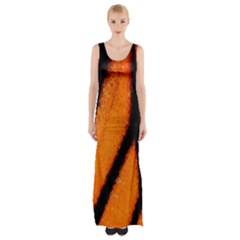 Butterfly Design 5 Maxi Thigh Split Dress by timelessartoncanvas