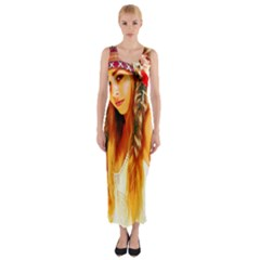 Indian 26 Fitted Maxi Dress by indianwarrior