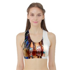 Indian 21 Women s Sports Bra With Border by indianwarrior