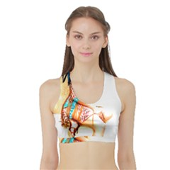 Indian 18 Women s Sports Bra With Border by indianwarrior