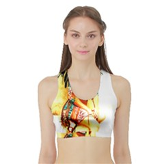 Indian 16 Women s Sports Bra With Border