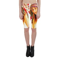 Indian 26 Cropped Leggings by indianwarrior