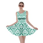 Emerald Green Damask Pattern Skater Dress
